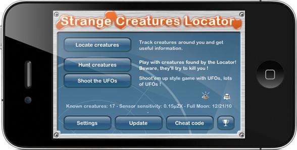 Strange Creatures Locator